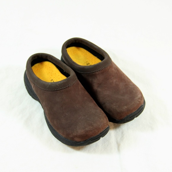 Merrell Shoes   Suede Slip On Clogs